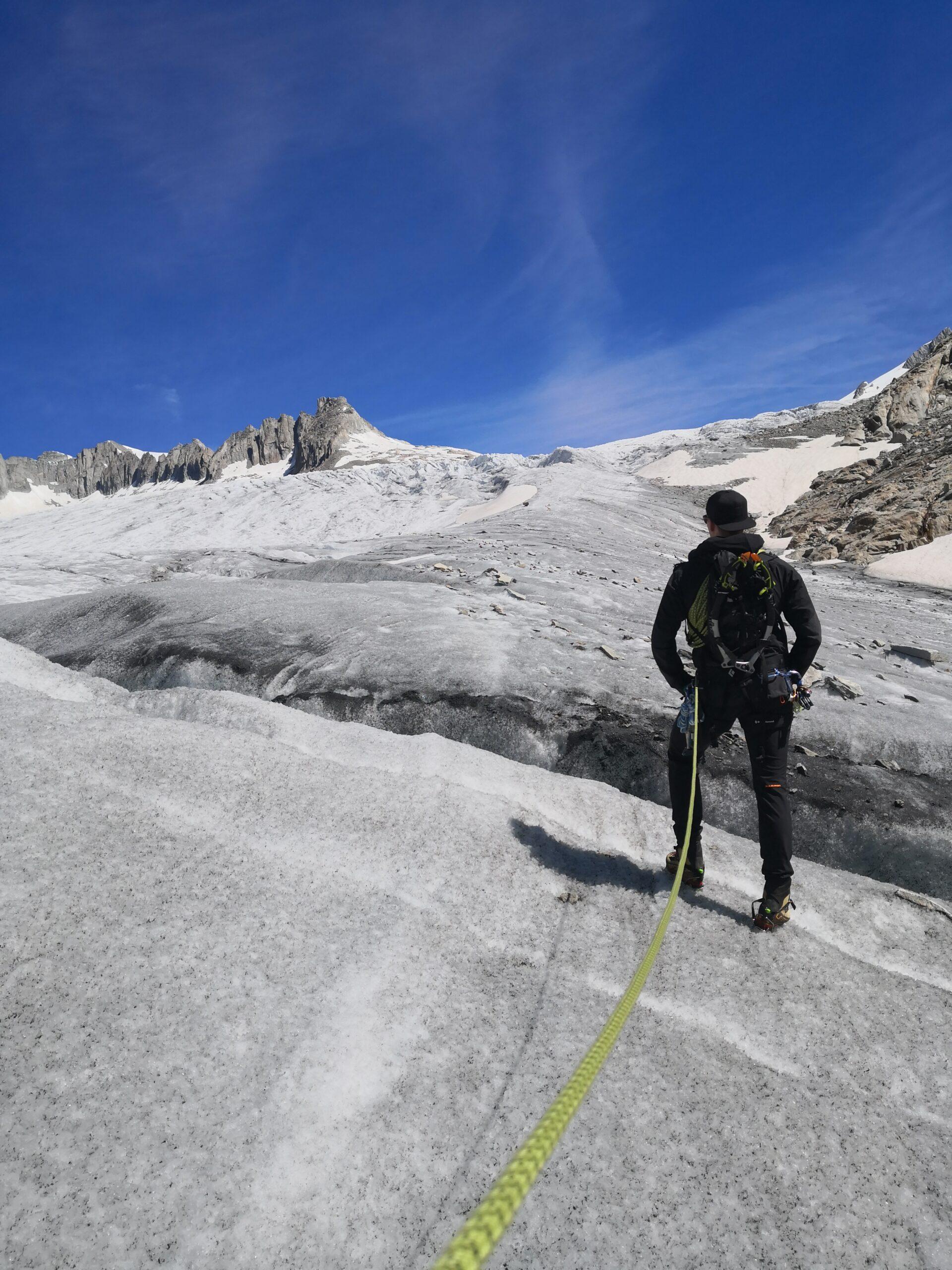Philippe Maurer - Rohnegletscher - Eis, Stahlgranate und Sonne