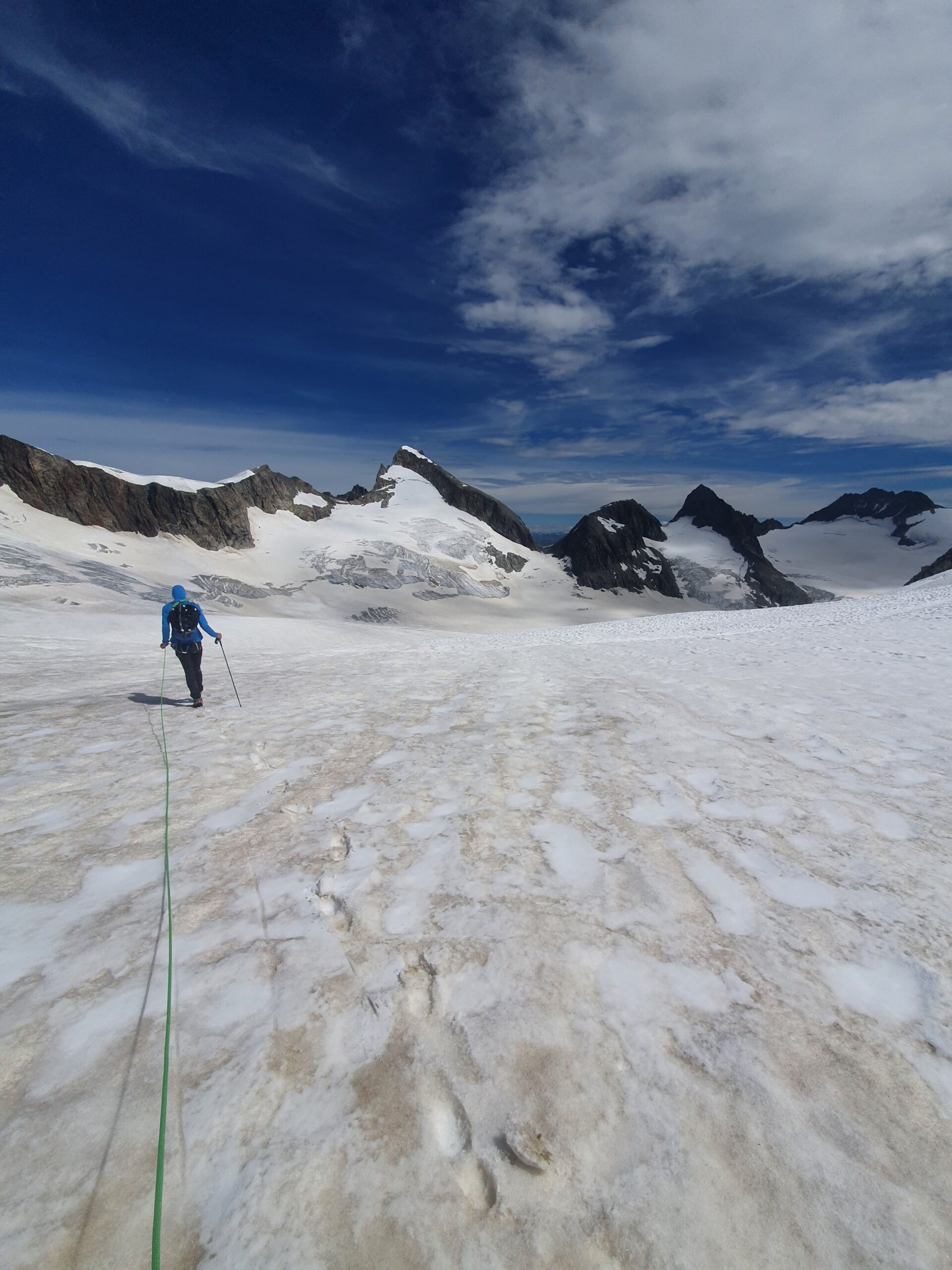 Auf dem Weg zur Oberarrjochhütte
